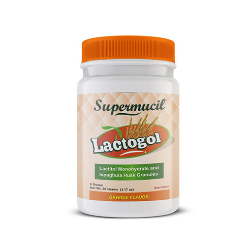 SUPERMUCIL  LactoGol : Lactitol Monohydrate with Ispaghula : 90 Gms.