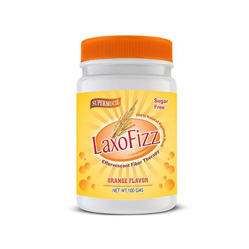 SUPERMUCIL LaxoFizz: Psyllium Effervescent: 100 Gms Orange Flavour: Sugar Free