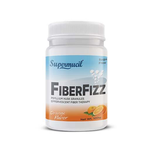 SUPERMUCIL FIBERFIZZ: Psyllium Effervescent: 100 Gms Orange Flavour: Sugar Free
