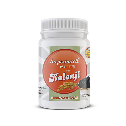 SUPERMUCIL Psyllium with Kalonji Orange Flavor 100 gms